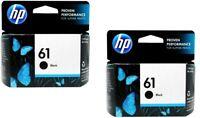 2pk HP #61 Black Ink Cartridge 61 CH561WN NEW GENUINE