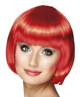 1920s Red Cabaret Bob Wig Womens Ladies Charleston Flapper Burlesque Showgirl