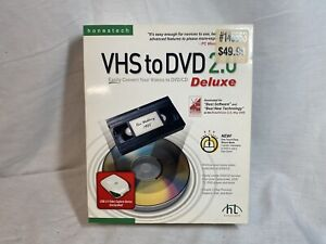 Vintg-Honestech VHS to DVD 2.0 Deluxe Video Conversion Kit 2006 - New Sealed