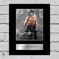 Sylvester Stallone Signed Mounted Photo Display Rambo
