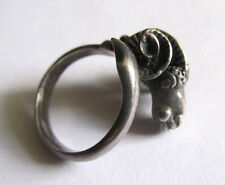 Ram Aries Zodiac Wrap Ring Sterling Silver 925 Handmade Vintage Sz 7.75 No Stone