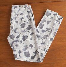 "Aeropostale ""Tokyo Darling"" Junior Sz 0 Gray Floral Stretch Jeans Pant Jeggings"