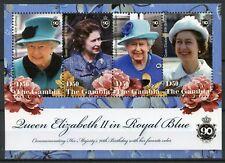 Gambia Royalty Stamps 2016 MNH Queen Elizabeth II 90th Birthday Anniv 4v M/S