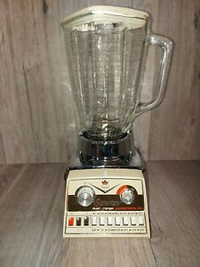 Osterizer Imperial Dual Range Cyclomatic 14 Blender Chrome Beehive Glass # 878