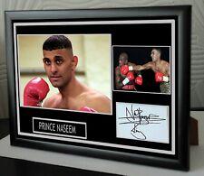 More details for prince naseem hamed tribute framed canvas print signed great gift-souvenir
