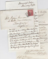 1861 MAY DUNGANNON DUNMOYLE LODGE & ROYAL MILITIA HQ OMAGH LETTERS CAPTAIN MANN