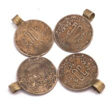 Old Vintage Antique Coin 4 Charms Tibetan Nepalese Handmade Nepal CH630