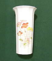 "Wild Poppy Porcelain Vase Japan Otagiri 8"""
