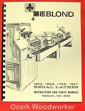 LEBLOND 13C3, 15C5, 17E5, 19E7 Lathe Operator Parts Manual 0429