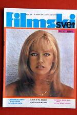 NATHALIE DELON ON COVER 1970 VINTAGE RARE EXYUGO MAGAZINE