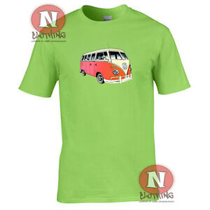 Naughtees Clothing split screen camper van t-shirt v-dub printed festival tee