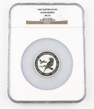 2004 Australian Kookaburra 2 oz .999 Silver $2 Coin NGC MS70! Gem, Rare!