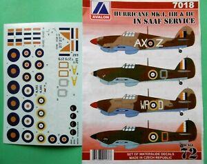 """Avalon Decals 1/72_ Hawker Hurricane Mk.II ,,in SAAF"""""""
