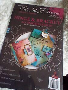 PINK INK DESIGNS HINGE & BRACKET (18 SEPARATE STAMPS). UNOPENED PACKAGING  NEW