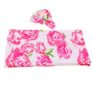 Baby Swaddle Wrap Blanket Sleeping Bag with Headband Set for 0-1 Years Pink