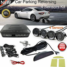 Car Parking Rear Reversing Sensors 4 Sensors Kit Buzzer LED Display Audio Alarm