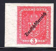 1918-19 Austria Scott 197 (Mi. 244U) overprinted imperforate MNH granite paper