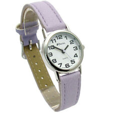 Ravel Ladies Super-Clear Easy Read Quartz Watch Lilac Strap R0105.13.17LA