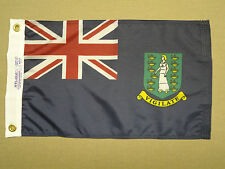 "British Virgin Islands Blue Ensign Nylon Outdoor Indoor Boat Flag 12"" X 18"""