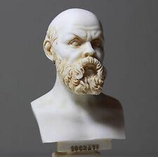 Vintage Style Socrates Greek Philosopher Bust Statue Alabaster Handmade 16cm/6.2