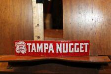 Vintage 1950's Tampa Nugget Store Display Rack Decal Cigar