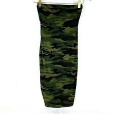 Bodycon Camo Dress size XS Strapless Tube Camouflage Green Juniors