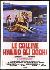 LE COLLINE HANNO GLI OCCHI MANIFESTO FILM HORROR WES CRAVEN 1974 MOVIE POSTER 4F