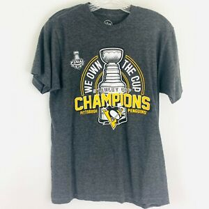 '47 Brand Pittsburgh Penguins 2017 Stanley Cup Championship Tee Shirt SZ M