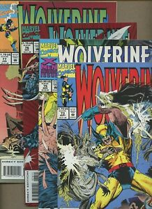 Wolverine 73,75,76,77 * 4 Book Lot * Adamantium removed by Magneto! Marvel