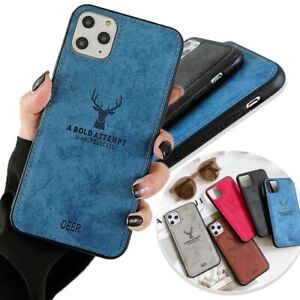 Deer Printed Mans Ultra Thin Phone Case for iPhone 12 13 Mini 11 Pro XS Max XR 7