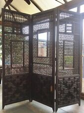 More details for antique indian hard wood room divider / screen very heavy beautiful piece