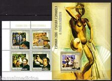 Sao Tome 2006 MNH MS+SS, Spanish painter Picasso, Greco Sorolla Nude Painting