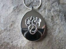STAINLESS STEEL DRAGON URN NECKLACE -MOURNING, ASHES, LOCK OF HAIR, MYTHICAL, 2