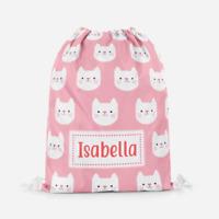 Personalised Fox Superhero Girls Kids Drawstring Bag Pe Bag Swimming School Bag