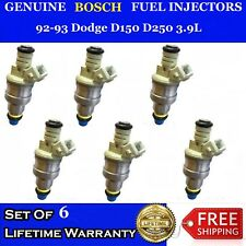 6x OEM Bosch Fuel Injectors for 92-93 Dodge D150 D250 3.9L #0280150925