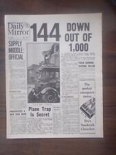 DAILY MIRROR WWII NEWSPAPER AUGUST 16th 1940 BATTLE OF BRITAIN