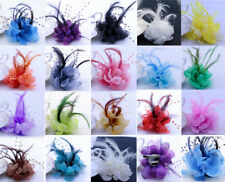 10pcs  Pearl Corsage Hair Clip Flower Fascinator Feather Hairpin Party Wedding