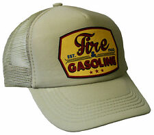 Trucker Cap Fire & Gasoline khaki Hot Rod US Car Rockabilly V8 Mütze Biker Hut