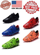 New Boys Girls Outdoor Soccer Tennis Shoes Cleats Youth Kids Football10-4  K8075
