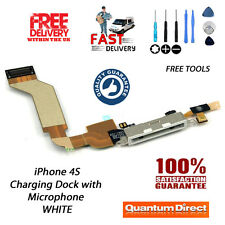 WHITE Replacement Charging Dock/Port Assembly + Microphone FOR iPhone 4S