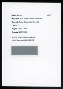 2020 National Treasures Holo Gold Chase Cabre Autograph Auto RC Rookie #/10