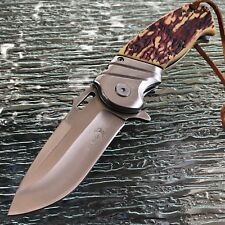 ELK RIDGE BONE HANDLE ASSISTED TACTICAL FOLDING HUNTING POCKET KNIFE Blade 8.25