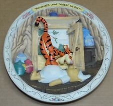 "Disney Bradford Exchange 3-D ""Bouncing's What Tiggers Do Best"" Pooh Plate"