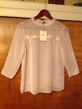 Lauren Conrad Womens Mock Neck Pink Blouse Size Medium