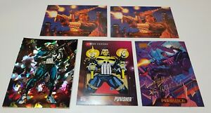 Marvel Masterpieces Gold Foil Signature Series 94 95 Punisher card lot and promo