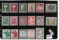#5927    Mixed MNH stamp set / Adolph Hitler / Postage / Third Reich Germany