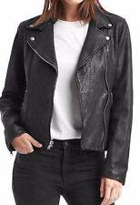 NWOT GAP Women's Classic moto jacket, True Black SIZE S     #325205