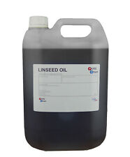 Linseed Oil 100% PURE Cold Pressed Linseed Oil Wood Treatment ORGANIC 5 Litres