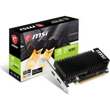 MSI GeForce GT 1030 2GHD4 LP OC 2GB GDDR4 Grafikkarte DP/HDMI passiv, Low Profil