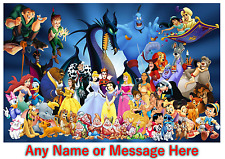 Personalised Kids Childrens A4 Placemat / Dinner Mat With Puzzles Disney